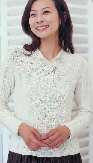 Простой пуловер спицами